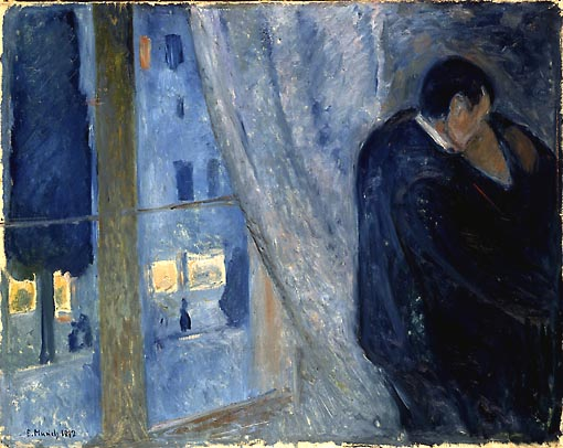 Kiss, a painting by Edvard Munch